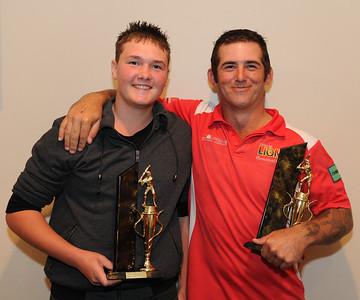 """""""B"""" Grade Best and Fairest Jordan McBain (Barmera) runner-up, Roy Grenfell (Lyrup) winner"""