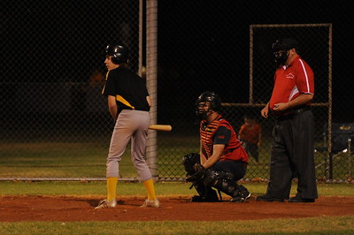 Matt Voigt (Loxton) at bat Phil Goldspink (Berri) catcher Peter Brown umpire.