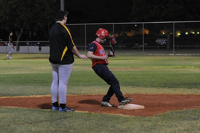 Paul Reid (Berri) safely steals 3rd base.