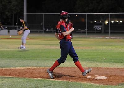 Nick Kuhn (Berri) touches at 3rd base