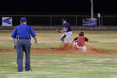 Nick Kuhn (Berri) slides safely into 2nd