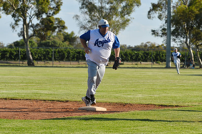 "Darren ""Chook"" Letton makes the out at 1st"