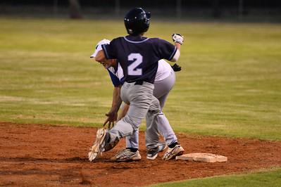 Jordan Walker (Barmera0 tries to beat the ball to 1st base