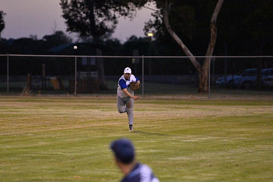 Dale Broughton (Renmark) throws in from the outfield