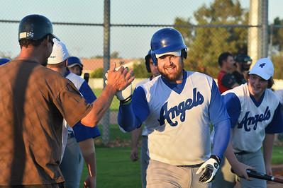Dion Tregeagle (Renmark) hits a home run