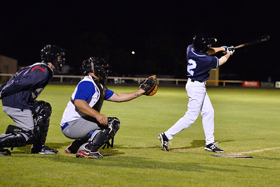 Jordan Walker (Barmera) batting, Dave Grenfell (Renmark) catcher