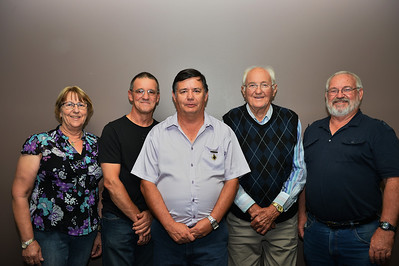 Riverland Baseball Association Life Members  Margaret Golding, Dave Adams, Peter Brown (new inductee), Ken Weslink, Kym Bament