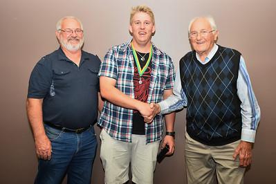 Kym Bament, Tim Golding (2013/2014 Weslink/Bament Medal winner), Ken Weslink