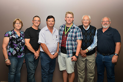 Riverland Baseball Association Life Members  Margaret Golding, Dave Adams, Peter Brown (new inductee), 2013/2014 Medal winner Tim Golding (Barmera), Ken Weslink, Kym Bament