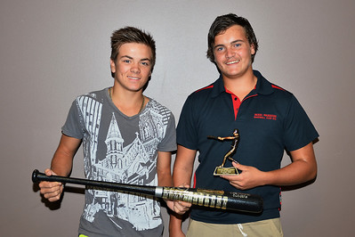 """A"" Grade Best U18 Player 2013/2014  Ken Karpany (Berri) tied with Kris Taylor (Berri)"