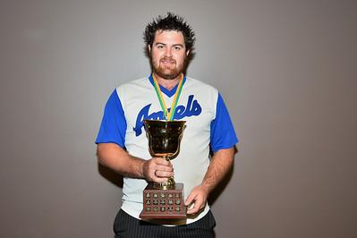 """A"" Grade Homerun Trophy 2013/2014  Dion Tregeagle (Renmark) tied with Jordan McBain (Barmera) (absent)"