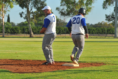 Dale Broughton (Renmark B) out at 1st base