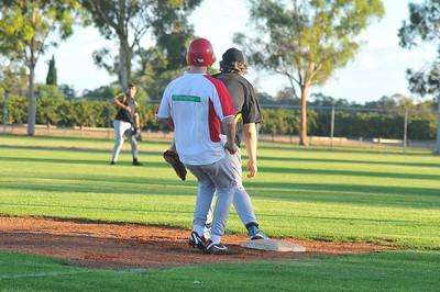 Callan Thiele (Lyrup) safe at 1st base