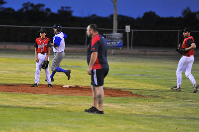 Doug Hren (Renmark) rounds 2nd base