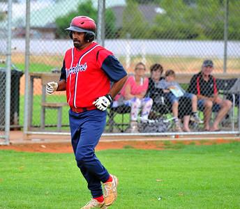Kenny Karpany Snr (Berri A) hits the home run