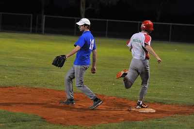 Shane Riddley (Lyrup) just makes it to 1sst base