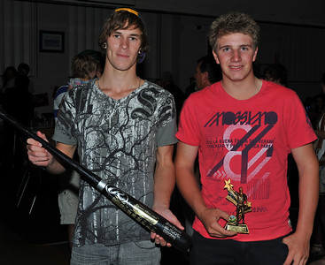 R.B.L.  Under 18 Best and Fairest 2012/2013 Joint Winners(L to R)  Nathan Barton-Arncliffe (Lyrup), Callan Thiele (Lyrup)