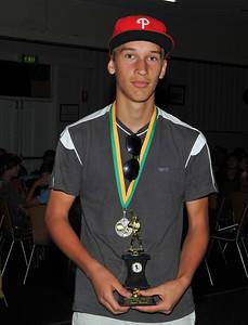 R.B.L.  Under 16 Best and Fairest 2012/2013 Runner-up Jerome Reimers (Lyrup)