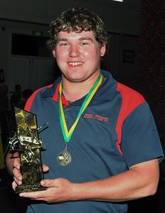 R.B.L. Senior Best and Fairest Award 2012/2013 Runner-up  Ashley Rogers (Berri)