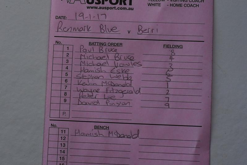 """""""B"""" Grade Renmark Blue v Berri (Round 12)"""