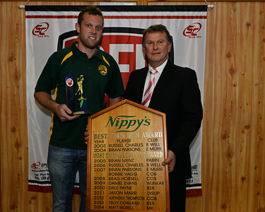 Nippys 2014 Most Valuable Player Award:  Matthew Morrell (Moorok) with Geoff Nispell