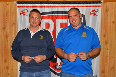 200 game players, (L to R) Callan Wall (Brownswell) and Paul Ryder (Cobby)