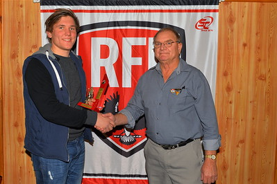 2015 Rob Lehmann Best 1st Year Player Award. Bailey Heinrich (Wunkar) with Rob Lehmann