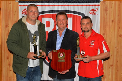 Knispel Brothers Most Valuable Player Award 2015, Equal First Geordie Franks (Wunkar) and Andrew Lloyd (Paringa) with Jeff Knispel.