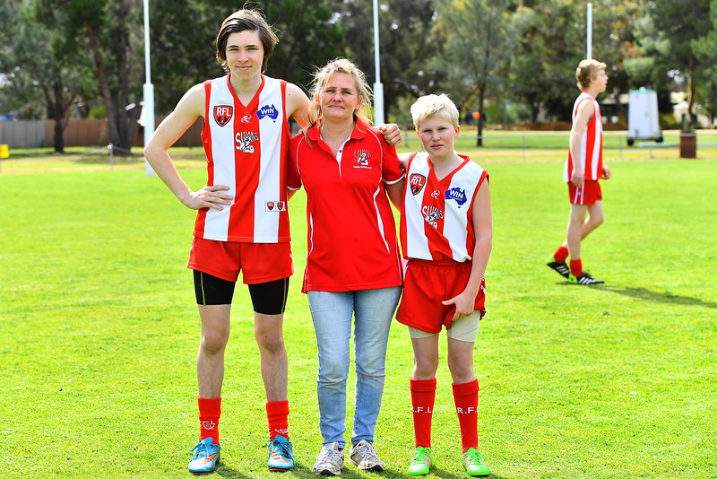 Mother and sons Grand Final Day 2017