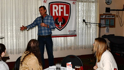 Riverland Independent football Riverland Football League Guest speaker at today's presentations from Cobby Club former Collingwood superstar, Peter Daicos