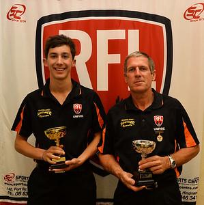 2014 RFL Umpires Award, Gold Whistle winner, Jordan Wright, with Silver Whistle Winner, Tony Florence