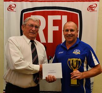 Club Award, Renmark President Jack James with RFL Patron, Alan Eckermann