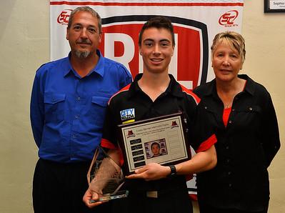 2014 Corey Siemers Memorial Trophy winner, Jack Agostino with Coreys parents