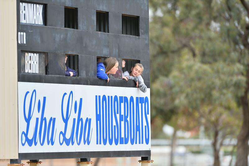 Girls in the scoreboard