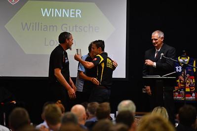 Gavin and Gina Siemers present the Corey Siemers Memorial Award to winner, William Gutsche (Loxton)