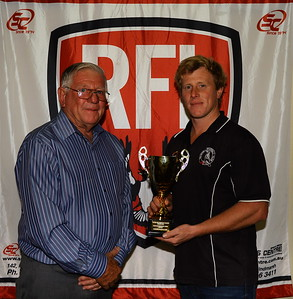 Club Championship Award, Waikerie. Presented to Henry Crawford (Waikerie) by RFL Patron David Liebich