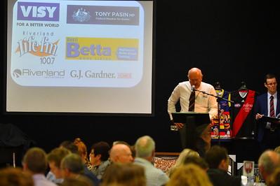 Gary Pfeiler RFL Chairman starts proceedings with MC Tim Jackson