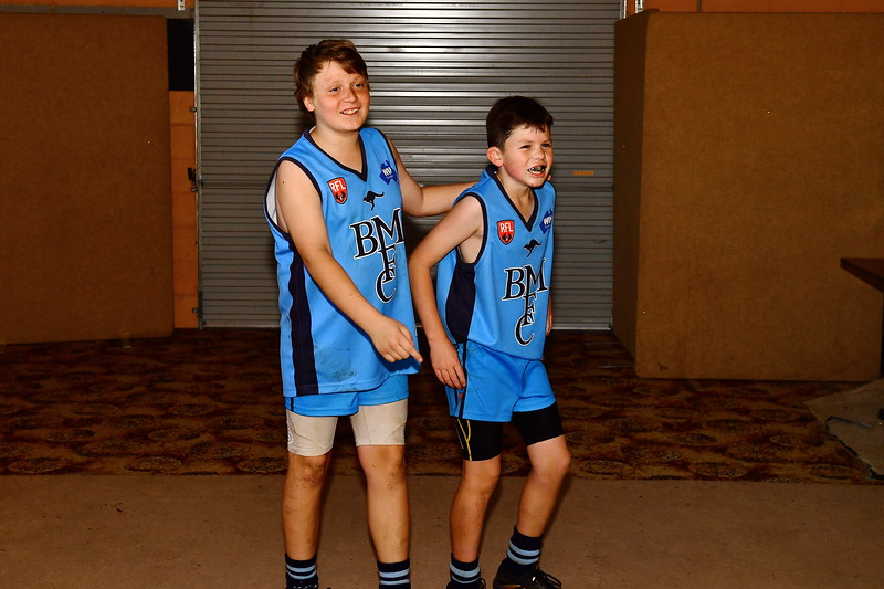 """""""U13"""" Barmera boys celebrate going into the 2017 Grand Final with a win over Renmark"""