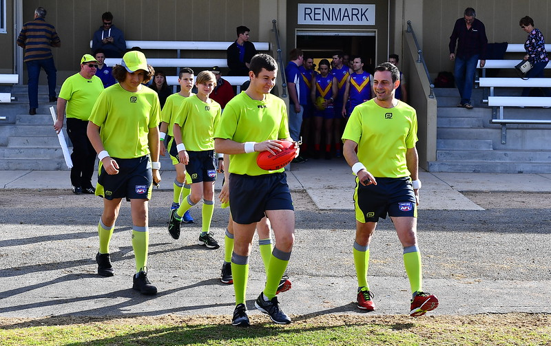 Renmark Rovers Charity Match run-out and coin toss.