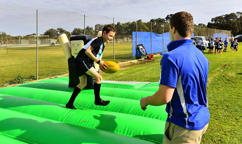 """""""Specky McGee"""" at the Renmark Oval Charity Match"""