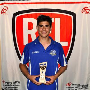 """""""U15"""" Best & Fairest Award, resulted in a tie between Reuben Lehmann (Waikerie Magpies Fc ) and Jordan Gadaleta (Renmark Rovers Football Club )"""