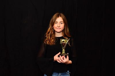 Riverland Hockey 2018 Trophy Presentation Night from Waikerie Hotel U15 Women Best & Fairest Charlee Webb (Renmark Hockey Club)