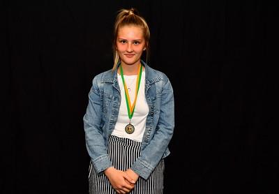 Riverland Hockey 2018 Trophy Presentation Night from Waikerie Hotel U15 Women Best & Fairest Runner-Up Alana Matulick