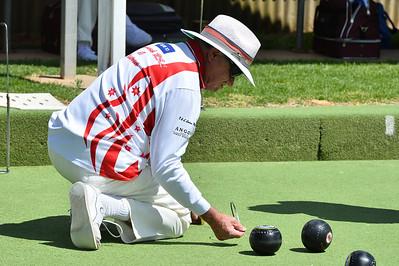 Umpire measures a close one
