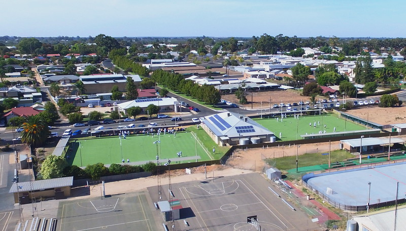 Grand Final Day 2016 in Barmera from above (Div 1 and Div 2)