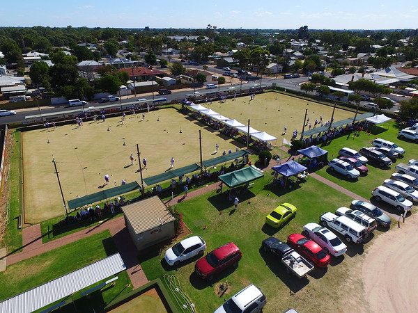 Overhead of Renmark RSL greens, site of the 2017 Grand Finals