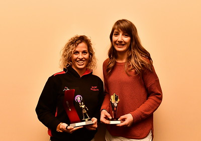 "Riverland Independent Netball 2018 ""A"" Grade Best & Fairest winner Holly Cowland with Runner-up Kloey Thiele"