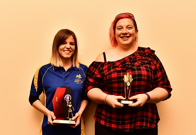 Riverland Independent Netball 2018 Best & Fairest Nicola Bryan with Runner-up, Tiffany Lindo