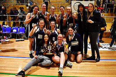 Back L to R Renee Williams, Ellie Thomas, Kirriley Wagner, Belinda Wouters, Courtney Tschirpig, Ros Oates (Coach), Courtney Hume (Assist Coach), Middle L to R  Jessie Wooldridge, Ella Schultz, Amy Stephens, Front L to R  Jenna Barry, Alyce Worsfold.