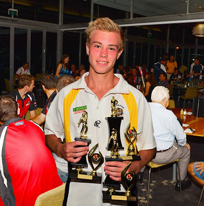 RTCA U14 Bowling Aggregate,  Bowling Average and Cricketer of the Year.  CJ Inglis (Loxton)